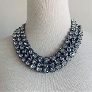 Ann Taylor Silver Rhinestone Necklace